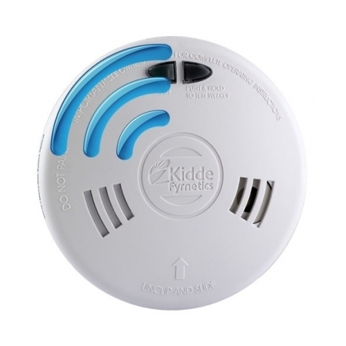 Radijo ryšiu sujungiamas dūmų detektorius su jonizacijos jutikliu Kidde Slick 1SFW