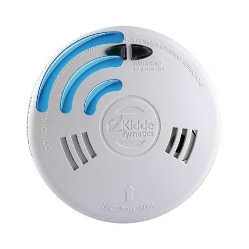 Radijo ryšiu sujungiamas dūmų detektorius su jonizacijos jutikliu Kidde Slick 1SFWR